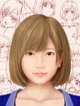 1girl brown_eyes brown_hair denkitori expressions miyamori_aoi portrait realistic shirobako short_hair