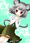 grey_hair jewelry miyata_waltz mouse_ears mouse_tail nazrin pendant red_eyes short_hair tail touhou