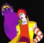 grimace jojo's_bizarre_adventure kujo_jotaro kujo_jotaro_(cosplay) mcdonald's parody ronald_mcdonald stand_(jojo) star_platinum star_platinum_(cosplay)