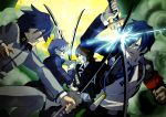 armband attack battle crossover digital_media_player epic headphones hosuke narukami_yuu persona persona_1 persona_2 persona_3 persona_4 seta_souji suou_tatsuya sword toudou_naoya weapon