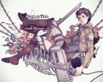 1boy bertolt_hoover black_hair chain shingeki_no_kyojin skeleton solo three-dimensional_maneuver_gear wenny02