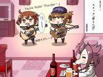 3girls ikazuchi_(kantai_collection) inazuma_(kantai_collection) jun'you_(kantai_collection) kantai_collection multiple_girls tanaka_kusao translation_request