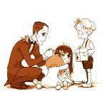 bruise first_aid_kit gyosone hug injury iori_shirou jakuzure_nonon kill_la_kill kiryuuin_satsuki long_hair short_hair soroi_mitsuzou younger