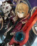 1boy blonde_hair blue_eyes metal_face monado natsuyuki shulk sword weapon xenoblade