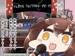 2girls kantai_collection kongou_(kantai_collection) multiple_girls tanaka_kusao translation_request yukikaze_(kantai_collection)