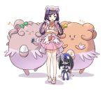 >:d >_< :3 :d ^_^ alternate_color animalization bandages blissey blue_eyes card cat closed_eyes cosplay creature crossover egg green_eyes green_ribbon hair_rings hat holding holding_card hoshizora_rin joy_(pokemon) joy_(pokemon)_(cosplay) kousaka_honoka love_live!_school_idol_project minami_kotori musical_note nurse nurse_cap open_mouth pawniard playing_card pokemon pokemon_(anime) pokemon_(creature) ribbon shikei_(jigglypuff) shiny_pokemon skitty smile sonoda_umi tearing_up toujou_nozomi white_ribbon x3 yellow_ribbon