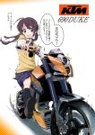 1girl highres ktm_690_duke maruyo motor_vehicle motorcycle original translation_request vehicle