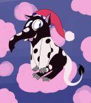 :p animalization baku_(creature) blue_eyes clouds doremy_sweet godbear999 nightcap tail tongue tongue_out touhou
