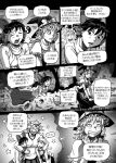 comic flying hakurei_reimu kirisame_marisa ragathol sweater touhou translation_request yakumo_yukari