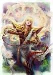 1boy armor blonde_hair closed_eyes fooltown long_hair saint_seiya virgo_shaka