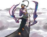 chinese_clothes dragon_ball dragonball facial_hair flying grey_hair karuta_(karutazia) male mustache sketch tao_pai_pai