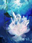 crystal flower legs lotus ni-co niko_(silent.whitesnow) original plant short_hair solo underwater