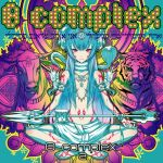 1girl 2d album_cover armlet barefoot blue_hair bull cobra_(animal) cover hair_censor hairpods indian_style jewelry loincloth long_hair lowres necklace original polearm red_eyes sitting small_breasts smile snake solo_focus tattoo tiger trident weapon