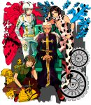 airplane beanie black_hair book chair choker cow_print donatello_versace enrico_pucci gears hat jojo_no_kimyou_na_bouken multicolored_hair rykiel scissors sky_high_(stand) stand_(jojo) two-tone_hair ungaro white_hair yyy246