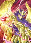 1boy armor full_armor isi88 long_hair purple_hair saint_seiya saint_seiya:_soul_of_gold scorpio_milo solo