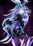 1girl blue_eyes bodysuit highres long_hair looking_at_viewer mimelex neptune_(choujigen_game_neptune) neptune_(series) next_purple purple_hair purple_heart shin_jigen_game_neptune_vii solo symbol-shaped_pupils