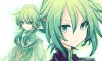 androgynous colored_eyelashes crossdress green green_eyes green_hair hair_tubes ion jewelry light_smile long_hair male multiple_boys necklace riichu sync tales_of_(series) tales_of_the_abyss trap twintails