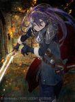 blue_eyes fire_emblem fire_emblem:_kakusei fire_emblem_cipher gloves lucina mask official_art purple_hair sword tiara toi8 weapon