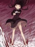 1girl akemi_homura barefoot drawr dress homulilly kyubey mahou_shoujo_madoka_magica mahou_shoujo_madoka_magica_movie nao-08 spoilers