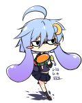 inkling inkling_(cosplay) inori_(xyz5568) kantai_collection parody purple_hair school_uniform serafuku short_hair skirt splatoon water_gun yayoi_(kantai_collection)