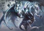 blue-eyes_white_dragon blue_eyes dragon duel_monster hayaken multiple_heads no_humans signature wings yuu-gi-ou yuu-gi-ou_duel_monsters