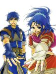 1boy 1girl blue_eyes blue_hair brother_and_sister female_my_unit_(fire_emblem:_shin_monshou_no_nazo) fire_emblem fire_emblem:_shin_monshou_no_nazo gloves intelligent_systems kris_(fire_emblem) kris_(fire_emblem)_(female) kris_(fire_emblem)_(male) long_hair male_my_unit_(fire_emblem:_shin_monshou_no_nazo) my_unit_(fe12) my_unit_(fire_emblem:_shin_monshou_no_nazo) nintendo open_mouth ponytail siblings white_background