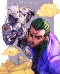 boyaking duo jojo's_bizarre_adventure killer_queen kira_yoshikage male part_4:_diamond_is_unbreakable short_hair stand