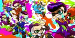 fungami_yuuya gakuran hazamada_toshikazu hazekura_mikitaka higashikata_jousuke hirose_kouichi jojo_no_kimyou_na_bouken nijimura_okuyasu paint parody school_uniform splatoon style_parody super_soaker tsuyuko_(boys-with-glasses-love) yamagishi_yukako