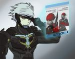 2boys 4chan cyborg eyepatch holographic_monitor long_hair meme metal_breakdown metal_gear_(series) metal_gear_rising:_revengeance monsoon_(metal_gear_rising) multiple_boys raiden red_eyes sai_(weapon) silver_hair solo_focus white_hair