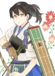 anthropomorphization female flower kaga_(kantai_collection) kantai_collection kurorofoo side_ponytail solo