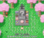 cherry_trees doseisan iwata_satoru kirby kirby_(series) mark_(pixiv6208406) mother_(game) mother_2 nintendo no_humans pixel_art smash_ball statue super_mario_bros. super_smash_bros. the_legend_of_zelda