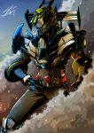 1boy armor kamen_rider kamen_rider_drive kamen_rider_drive_(series) male mask rider_belt signature smoke solo type_formula yusuki_(fukumen)