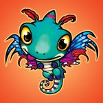 blizzard_entertainment brightwing_(hots) butterfly_wings chibi dragon dragon_tail faerie_dragon faerie_wings flying frenone heroes_of_the_storm insect_wings looking_at_viewer no_humans solo tail tongue warcraft wings