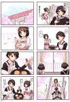 1boy 1girl apron black_hair comic issho_ni_gohan_tabetai kasugai_haruko momiji_mao musashino_kazuhiko original translation_request