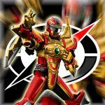 1boy armor bouken_red daikenjin_zubaan gogo_sentai_boukenger helmet highres kimiya_(zetuboh) power_rangers solo super_sentai tagme