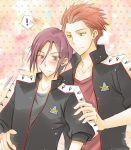 ! 2boys arm_around_waist duo free! matsuoka_rin mikoshiba_seijuurou smile