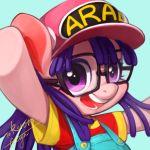 commentary_request dr._slump glasses hat my_little_pony norimaki_arale overalls