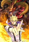 commentary_request duel_monster jack_atlas kirishima_(domipika) red_dragon_archfiend yuu-gi-ou yuu-gi-ou_5d's yuu-gi-ou_arc-v