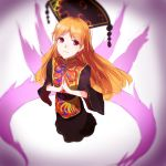 1girl black_dress chun_lanlanlan dress highres junko_(touhou) legacy_of_lunatic_kingdom long_hair orange_hair red_eyes solo touhou