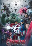 2girls 6+boys absurdres arrow avengers avengers:_age_of_ultron azir battle black_widow black_widow_(cosplay) blue_eyes blue_skin bow_(weapon) braum_(league_of_legends) breasts captain_america captain_america_(cosplay) catsuit character_name cleavage colored cosplay dark_skin dual_wielding epic eyepatch facial_hair fighting_stance flying flying_kick fur gnar_(league_of_legends) goggles green_skin greyscale group_shot gun hair_over_one_eye hawkeye_(marvel) hawkeye_(marvel)_(cosplay) helmet highres hulk iron_man iron_man_(cosplay) jayce kicking kuma_x large_breasts league_of_legends lucian_(league_of_legends) malzahar marvel master_yi monochrome morgana movie_poster multiple_boys multiple_girls mustache nick_fury nick_fury_(cosplay) parody power_armor purple_hair quicksilver quicksilver_(cosplay) red_eyes redhead robot sarah_fortune scarlet_witch scarlet_witch_(cosplay) shield spot_color submachine_gun superhero suppressor sword tagme tattoo thor_(marvel) thor_(marvel)_(cosplay) tusks ultron ultron_(cosplay) varus vision_(marvel) vision_(marvel)_(cosplay) weapon xerath