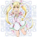 blonde_hair blush character_name green_eyes long_hair magical_girl pretty_cure sakagami_ayumu smile twintails