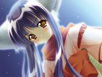 amber_eyes blue_hair blush carnelian catgirl hcg long_hair nekomata nekomimi