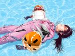 afloat breasts brown_hair closed_eyes entry_plug evangelion:_2.0_you_can_(not)_advance glasses hairband latex long_hair makinami_mari_illustrious neon_genesis_evangelion plugsuit pool realistic rebuild_of_evangelion solo takeout unconscious water wet