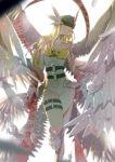 angewomon digimon feathers helmet navel tagme wings