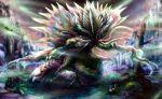 amatsumagatsuchi armor ballista bare_tree battle dragon full_armor glowing glowing_eyes highres masayoshi monster monster_hunter monster_hunter_portable_3rd tagme tree