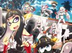 6+girls airfield_hime commentary_request cosplay haruna_(kantai_collection) hiei_(kantai_collection) highres kantai_collection kirishima_(kantai_collection) kongou_(kantai_collection) machinery multiple_girls northern_ocean_hime revision seaport_hime shinkaisei-kan southern_ocean_war_oni splatoon tagme tom_(drpow)