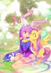 1girl crossover fluttershy highres my_little_pony reisen_udongein_inaba touhou xin_yu_hua_yin
