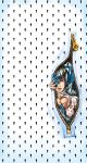 1boy black_hair bruno_bucciarati jojo_no_kimyou_na_bouken mayu-zoe patterned stand_(jojo) sticky_fingers_(stand) traditional_media watercolor_(medium) zipper