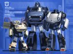 alley autobot bumblebee emblem fmu lamppost looking_at_viewer mecha no_humans optimus_prime realistic redesign road robot science_fiction sideswipe street transformers