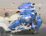 action dust_cloud ghost_in_the_shell ghost_in_the_shell_stand_alone_complex light_trail mecha no_humans rubble tachikoma william_ruzicka